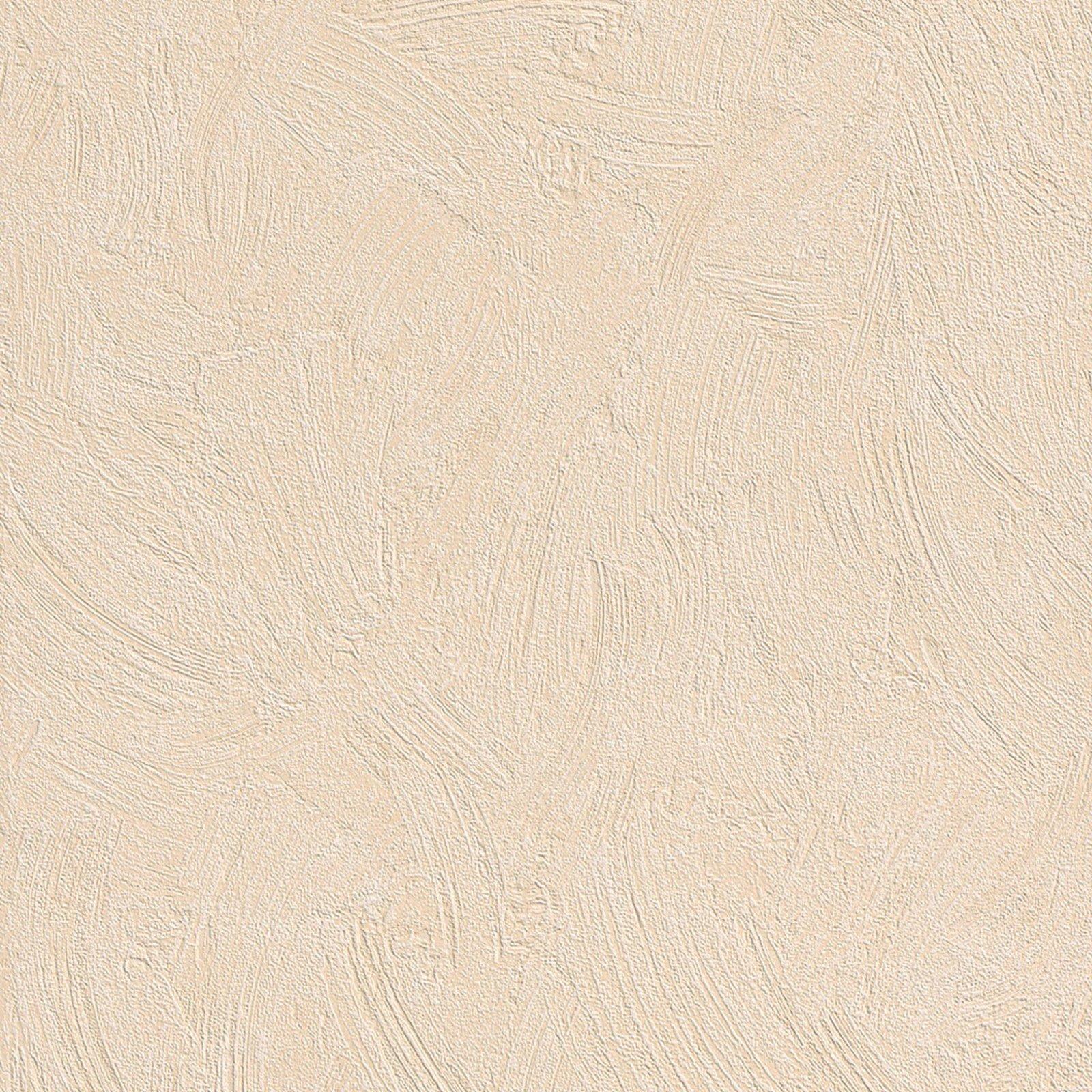 Vliestapete apricot putzstruktur vliestapeten for Tapeten roller