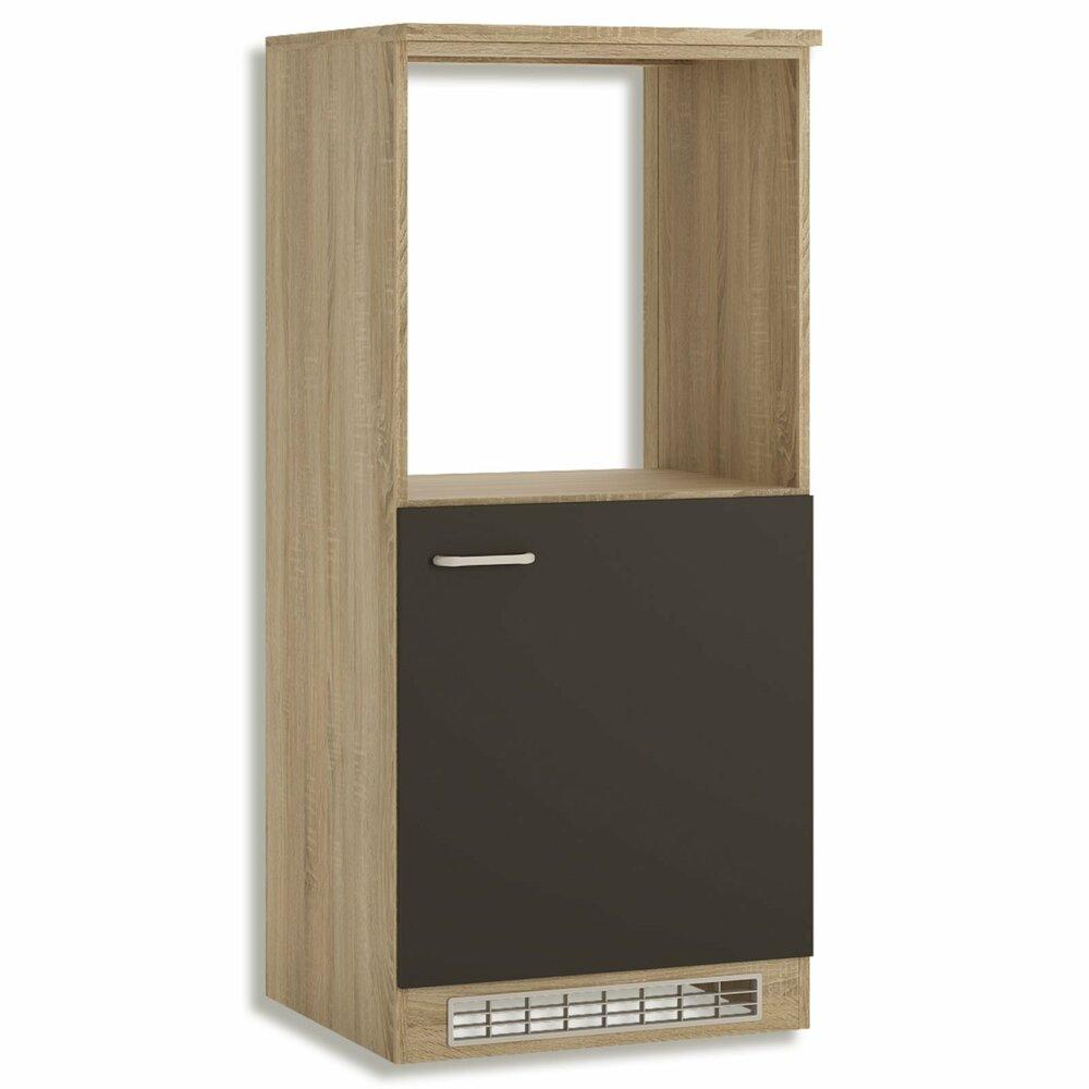 herdumbauschrank fox anthrazit sonoma eiche 137 2 cm hoch umbauschr nke einzelschr nke. Black Bedroom Furniture Sets. Home Design Ideas