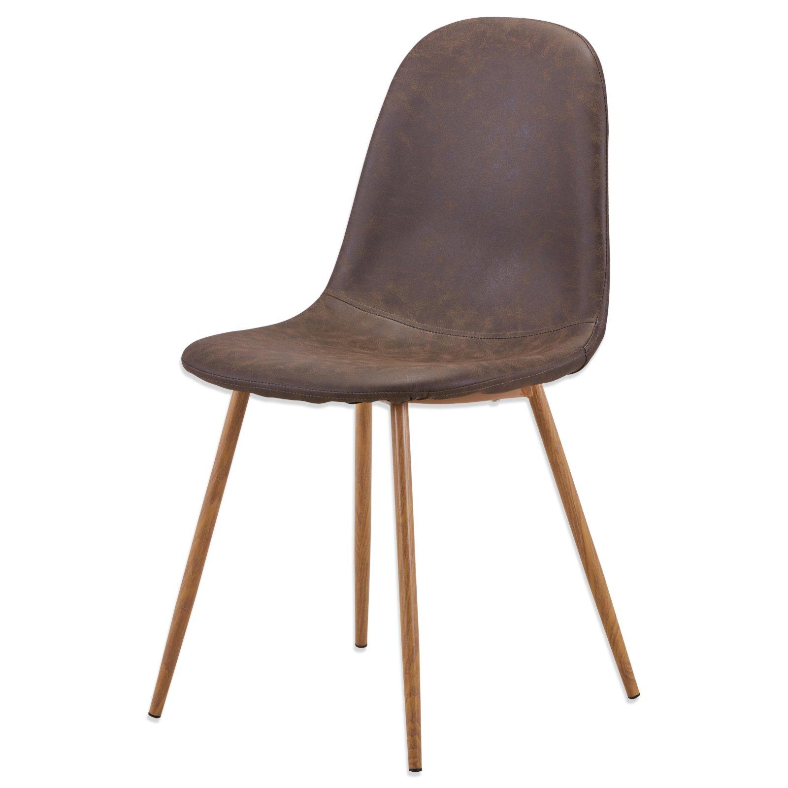stuhl charlton braun eiche kunstleder polsterst hle st hle st hle hocker m bel. Black Bedroom Furniture Sets. Home Design Ideas