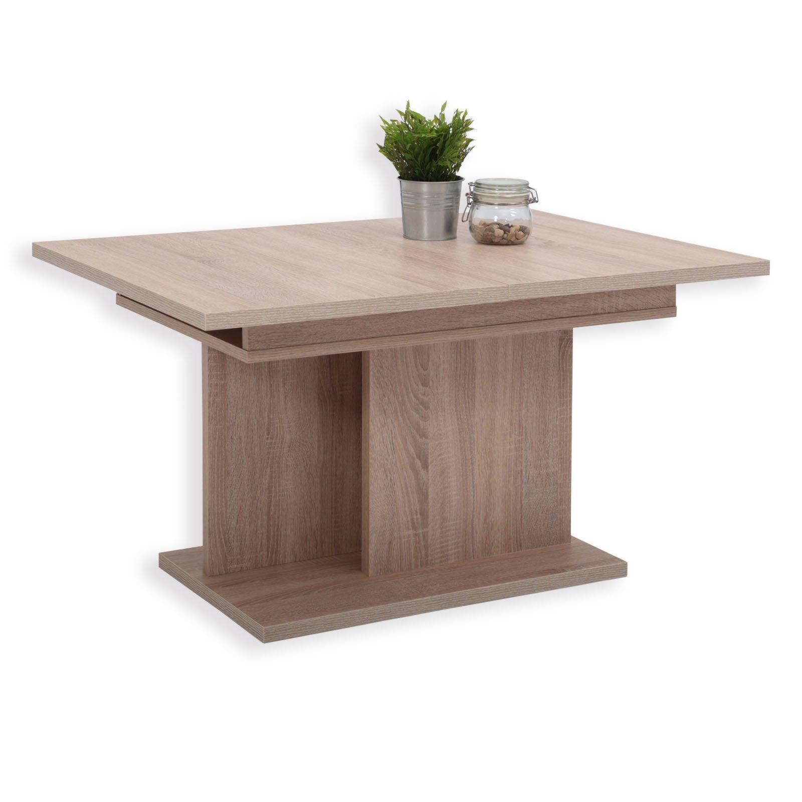 roller couchtisch paul sonoma eiche ausziehbar ebay. Black Bedroom Furniture Sets. Home Design Ideas