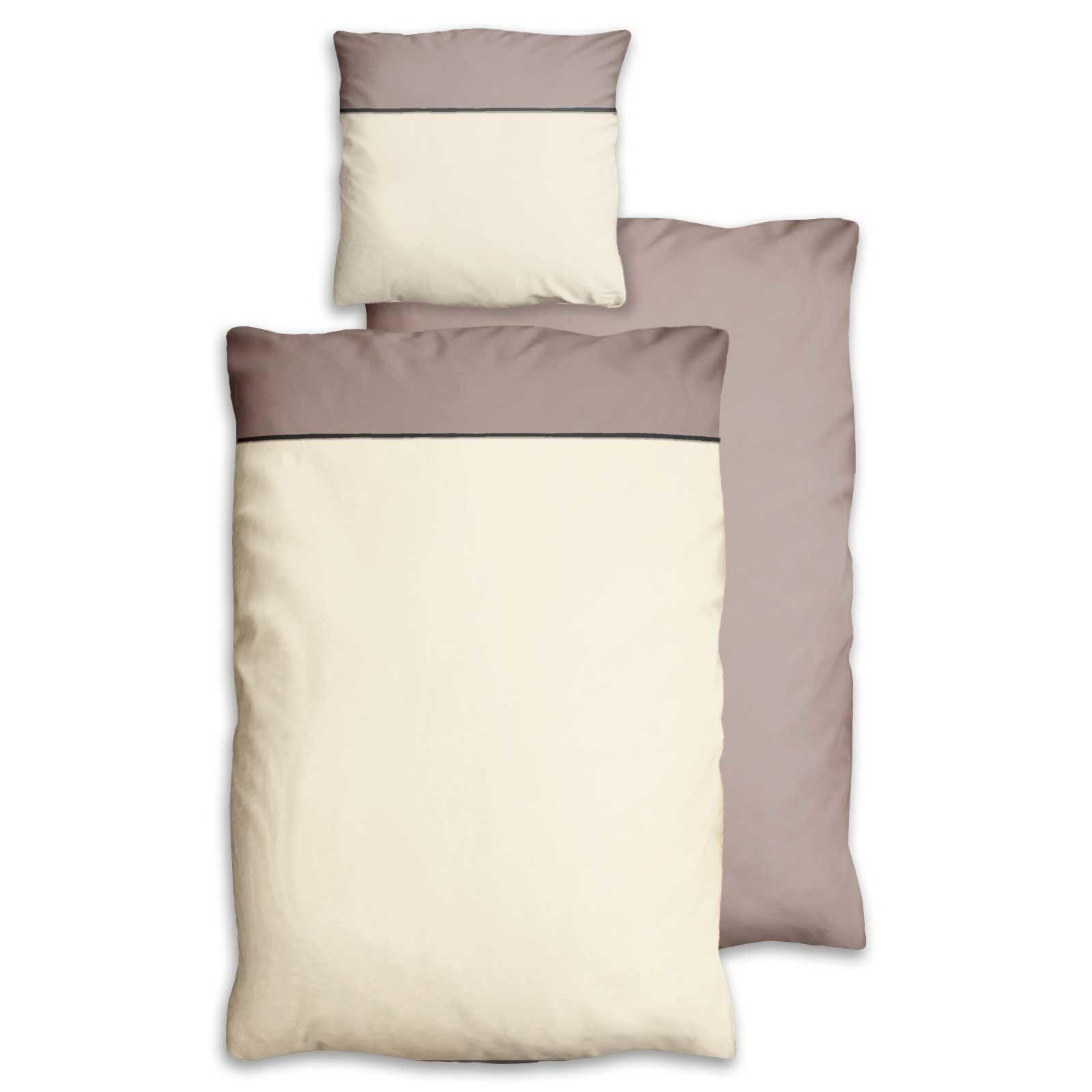 microfaser bettw sche basel beige taupe 155x220 cm bettw sche bettw sche bettlaken. Black Bedroom Furniture Sets. Home Design Ideas
