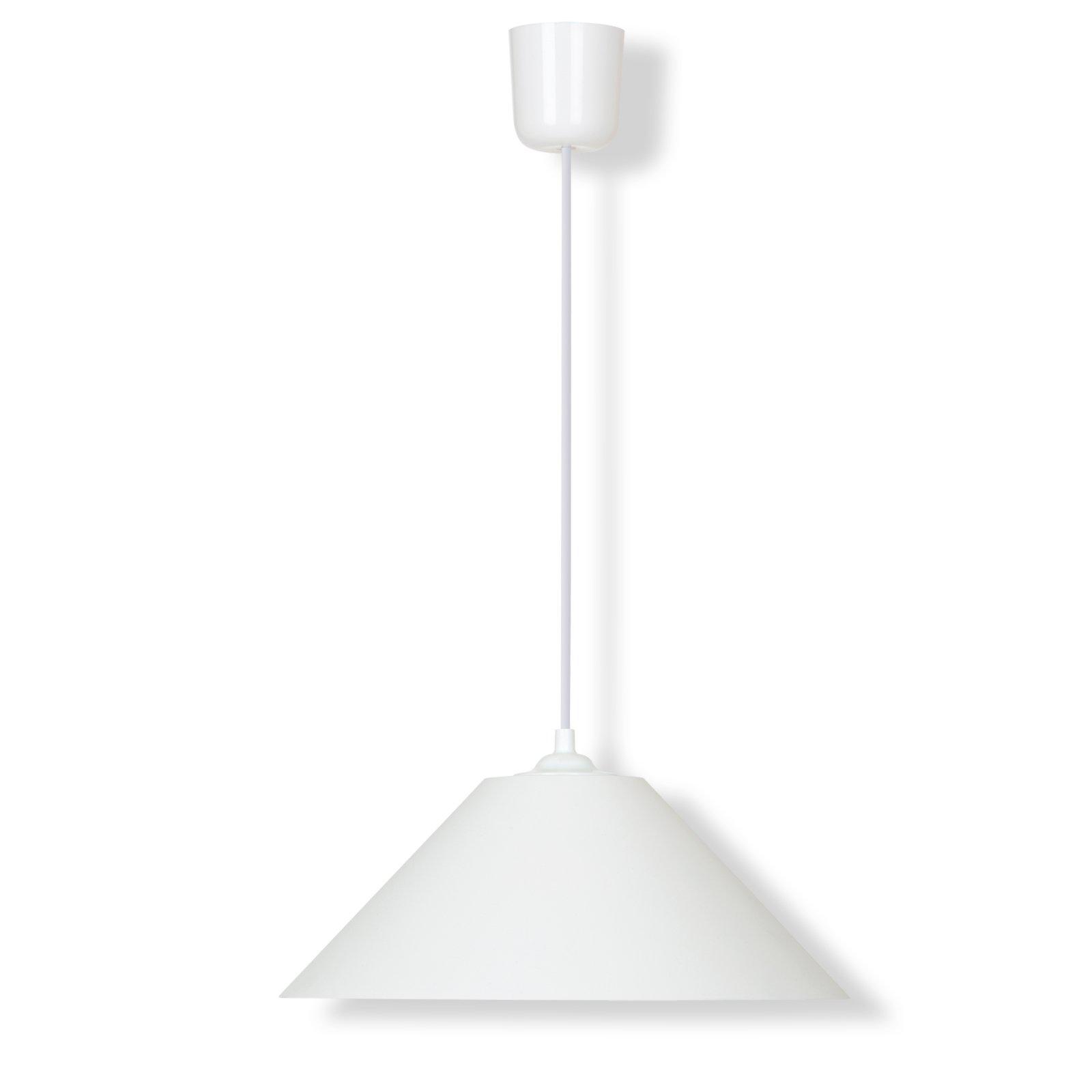 Pendelleuchte - weiß - 31 cm