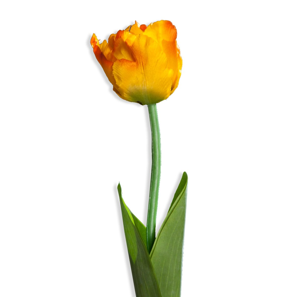 wohnzimmer deko orange:Tulpe – orange – Kunstpflanze – 64 cm