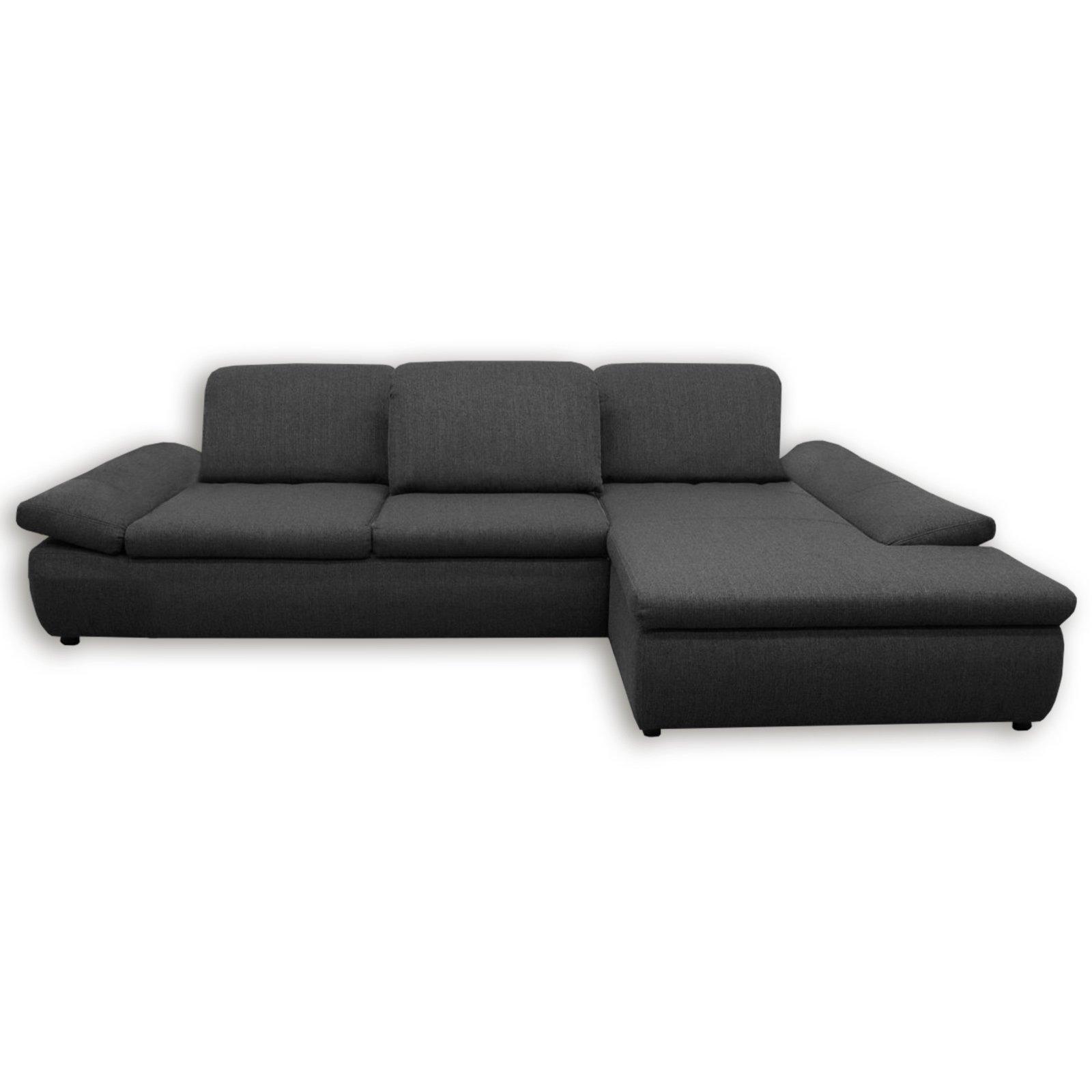 boxspringsofa dunkelgrau mit funktionen recamiere rechts ecksofas l form sofas. Black Bedroom Furniture Sets. Home Design Ideas