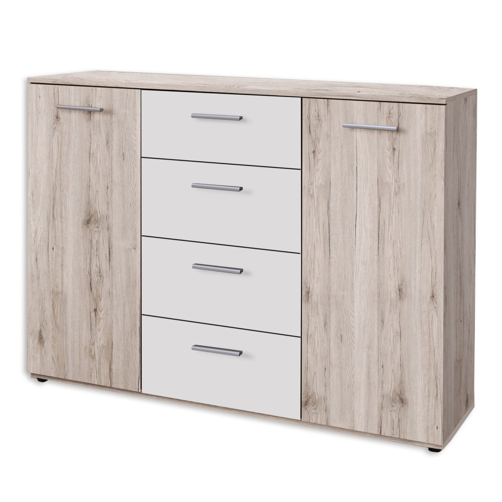 kommode beach sand eiche wei kommoden sideboards. Black Bedroom Furniture Sets. Home Design Ideas