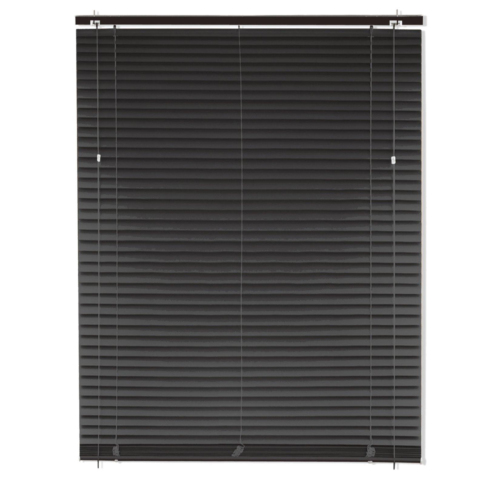 pvc jalousie anthrazit mit zubeh r 100x160 cm jalousien rollos jalousien deko. Black Bedroom Furniture Sets. Home Design Ideas