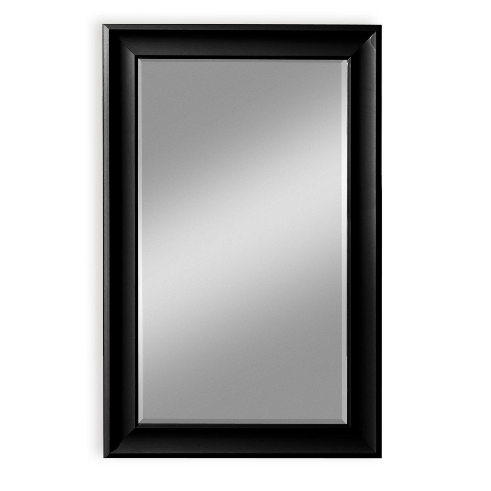 wandspiegel nizza schwarz gl nzend 78x110 cm. Black Bedroom Furniture Sets. Home Design Ideas
