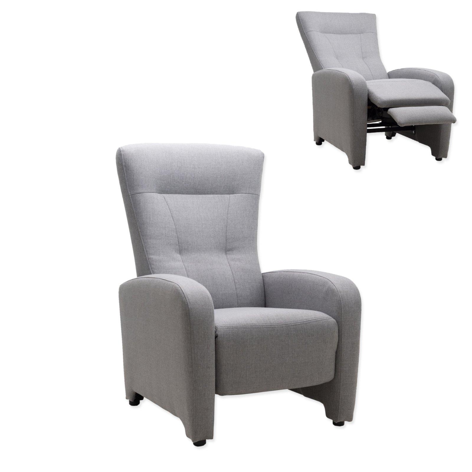 tv sessel grau mit funktion fernseh relaxsessel sessel hocker m bel roller. Black Bedroom Furniture Sets. Home Design Ideas