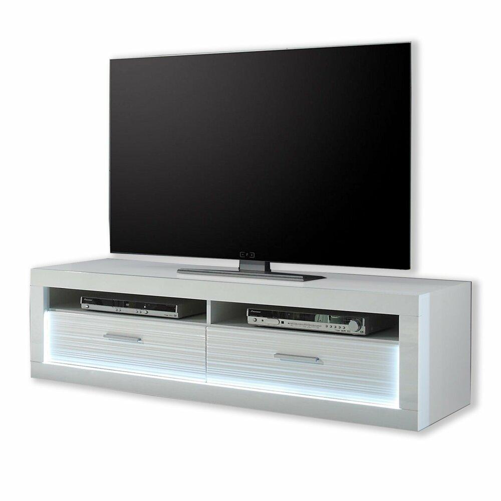 tv unterschrank starlight wei hochglanz beleuchtung 150 cm tv lowboards tv b nke tv. Black Bedroom Furniture Sets. Home Design Ideas