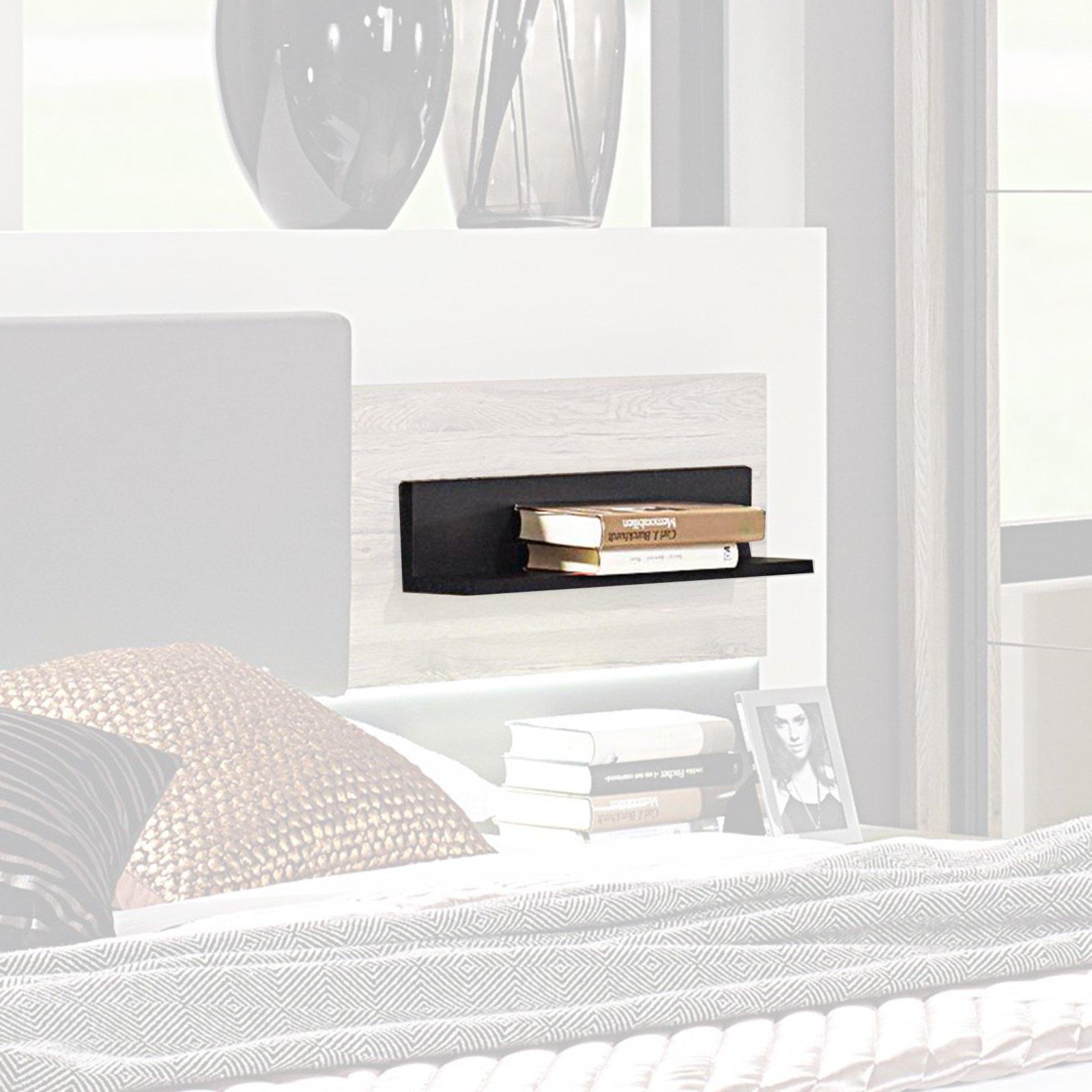 bettkopfteil ablagen tameo schwarz matt 2er set schlafzimmer tameo schlafzimmerprogramme. Black Bedroom Furniture Sets. Home Design Ideas