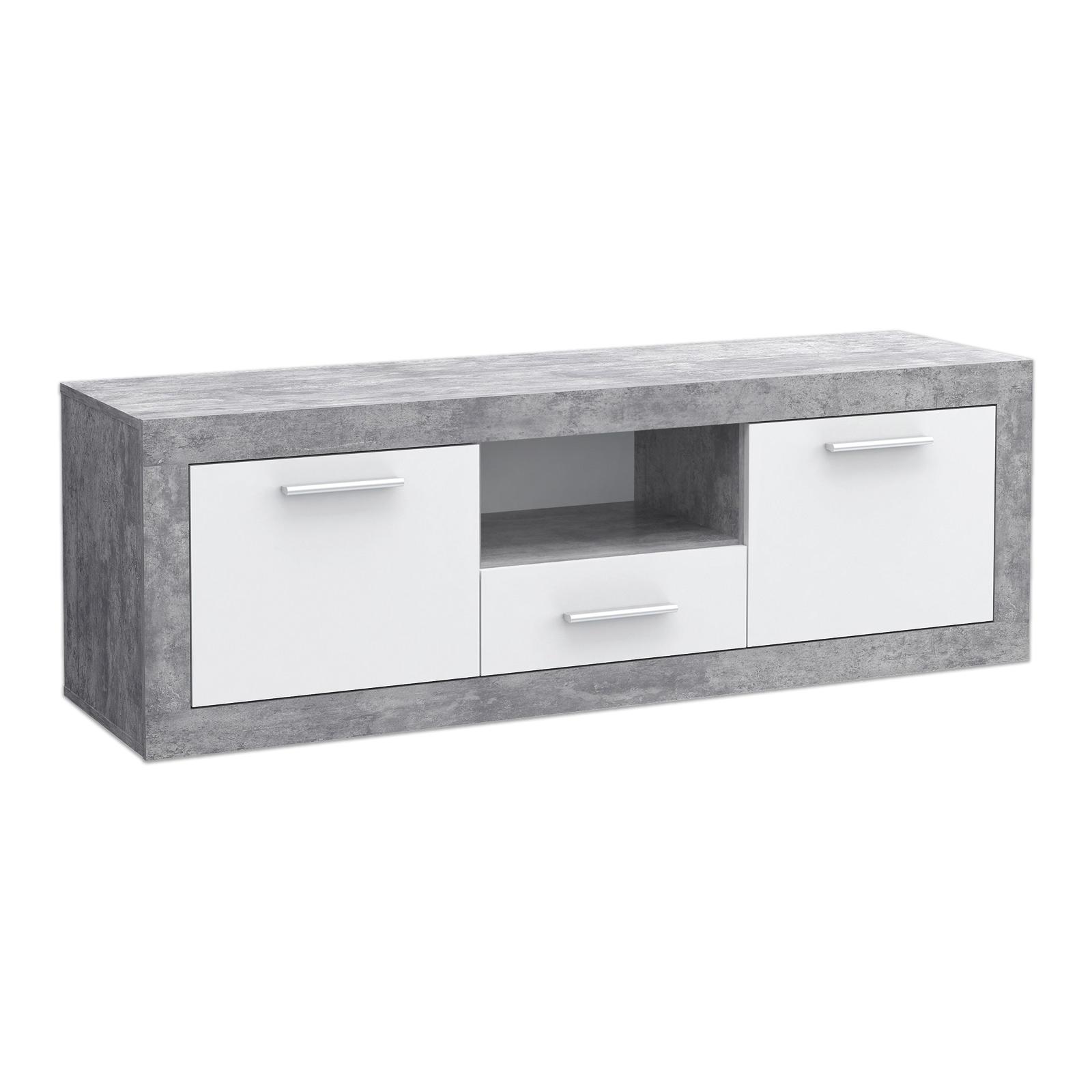Lowboard Beton Optik Weiss 148x50 Cm Online Bei Roller Kaufen