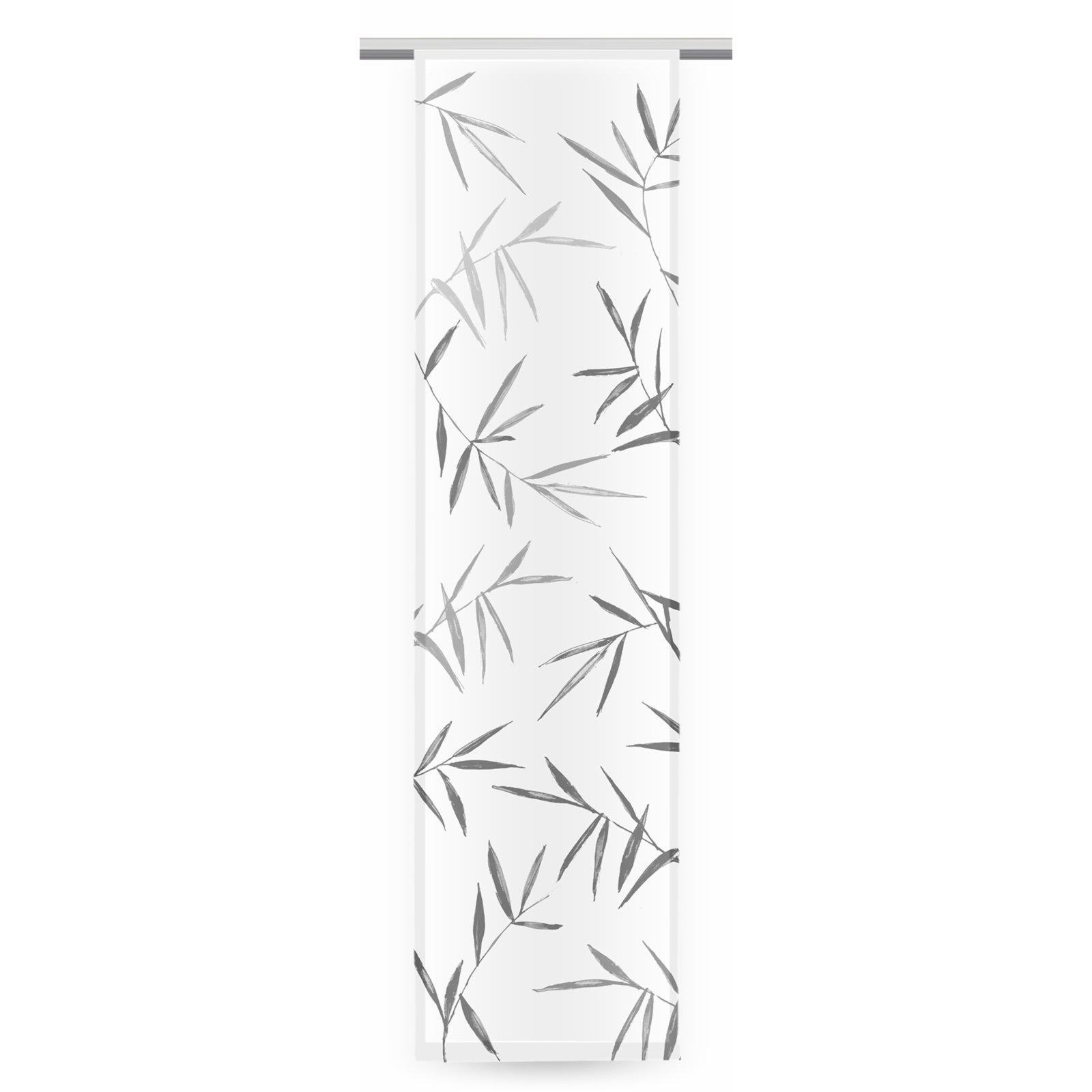 Schiebevorhang bambus wei anthrazit 60x245 cm for Bambus schiebevorhang