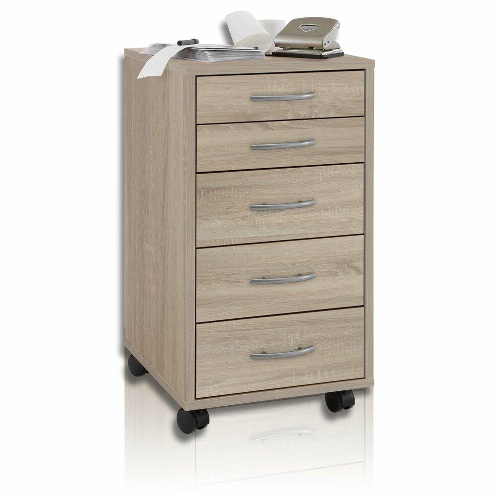 rollcontainer freddy sonoma eiche rollcontainer arbeitszimmer b ro wohnbereiche. Black Bedroom Furniture Sets. Home Design Ideas