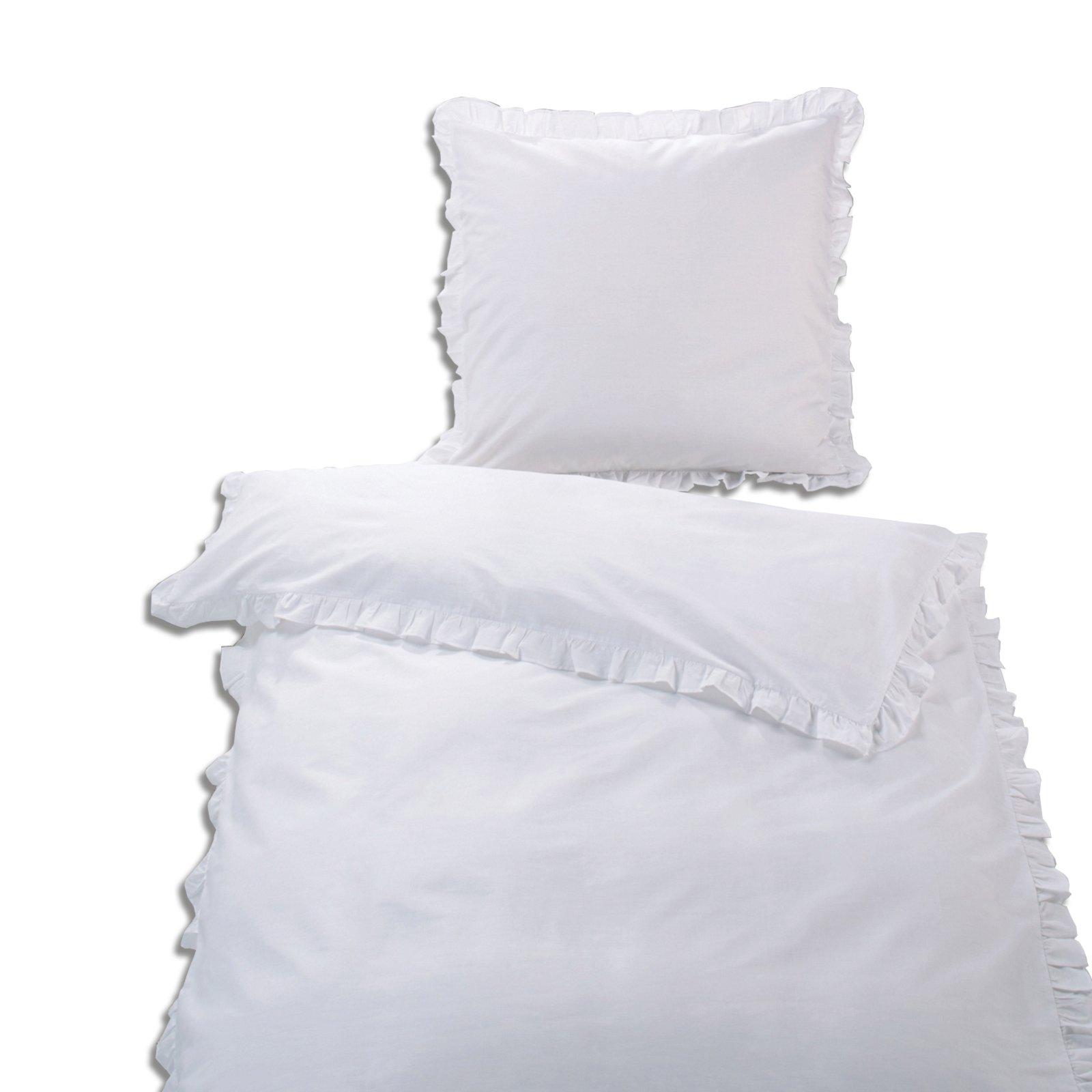 baumwoll bettw sche wei r sche 135x200 cm. Black Bedroom Furniture Sets. Home Design Ideas