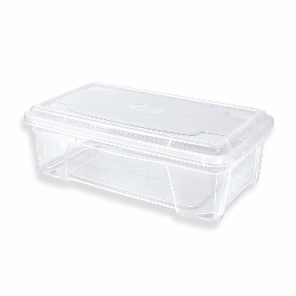 aufbewahrungsbox mit deckel transparent 6 liter kunststoffboxen boxen k rbe deko. Black Bedroom Furniture Sets. Home Design Ideas