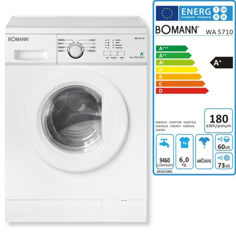 bomann waschmaschine wa 5710 757100 a waschmaschinen waschen trocknen hauswirtschaft. Black Bedroom Furniture Sets. Home Design Ideas
