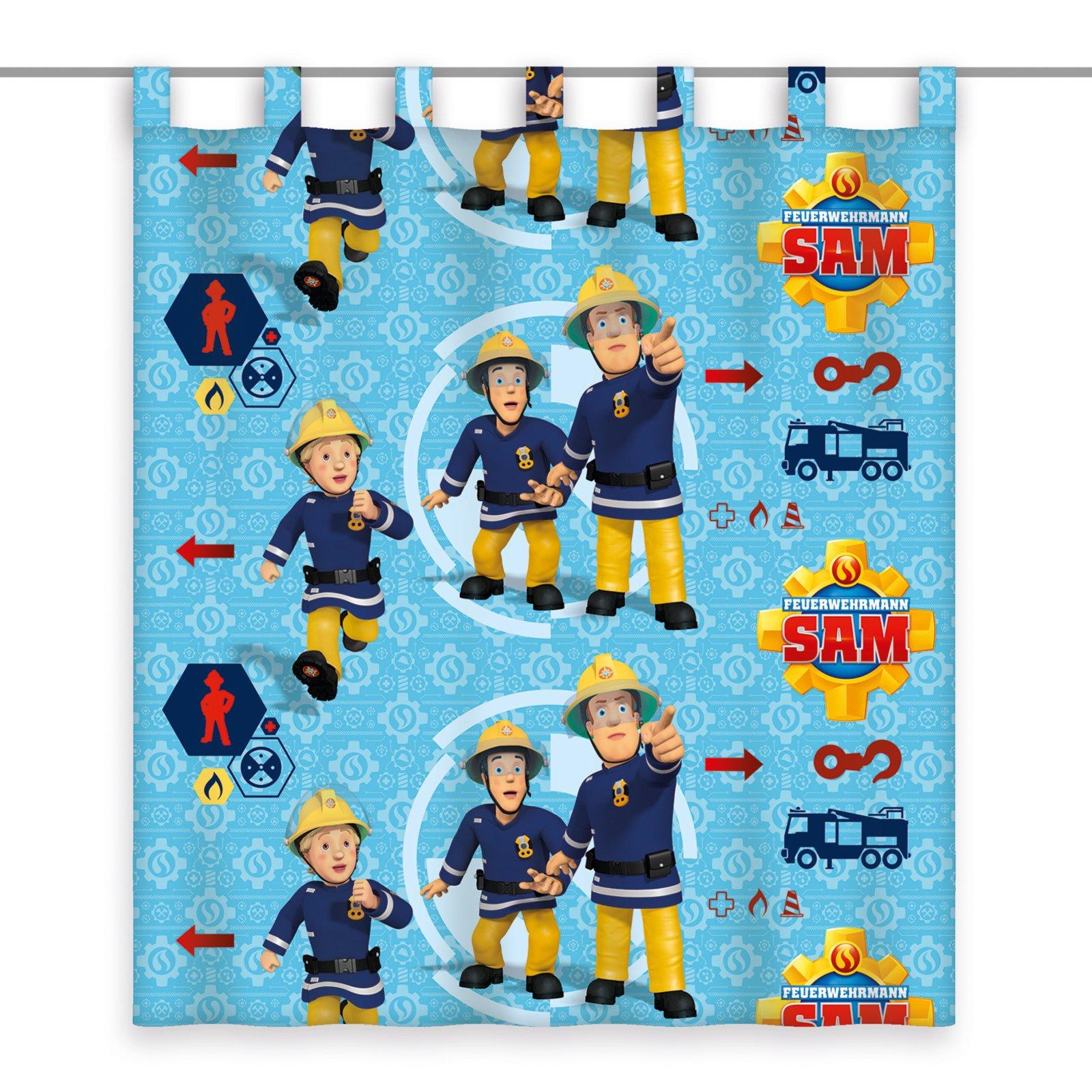 Schlaufenschal FEUERWEHR SAM - blau - 140x160 cm | Kindergardinen ...