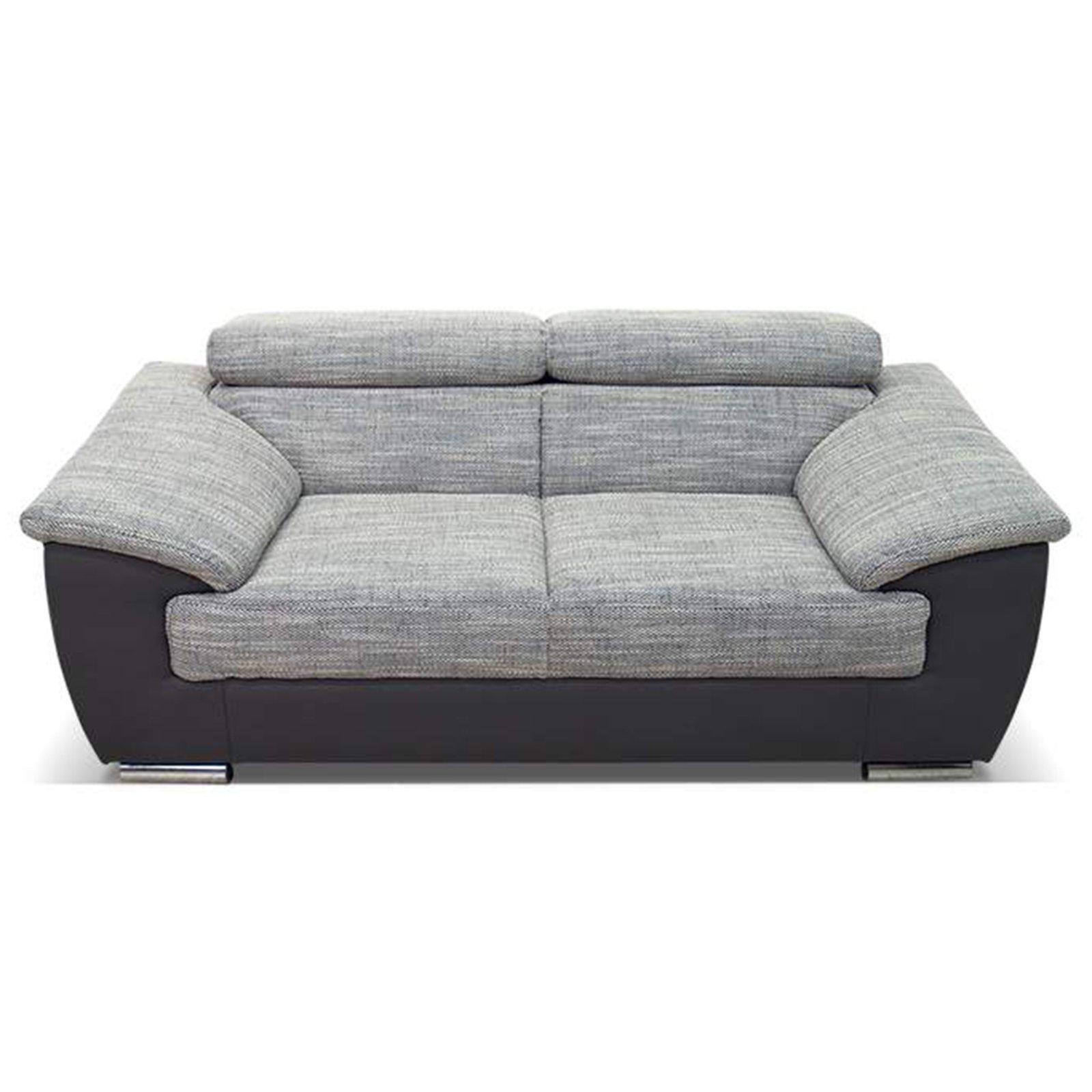 2 sitzer sofa grau dunkelgrau kopfteilverstellung einzelsofas 2er 3er 4er sofas. Black Bedroom Furniture Sets. Home Design Ideas