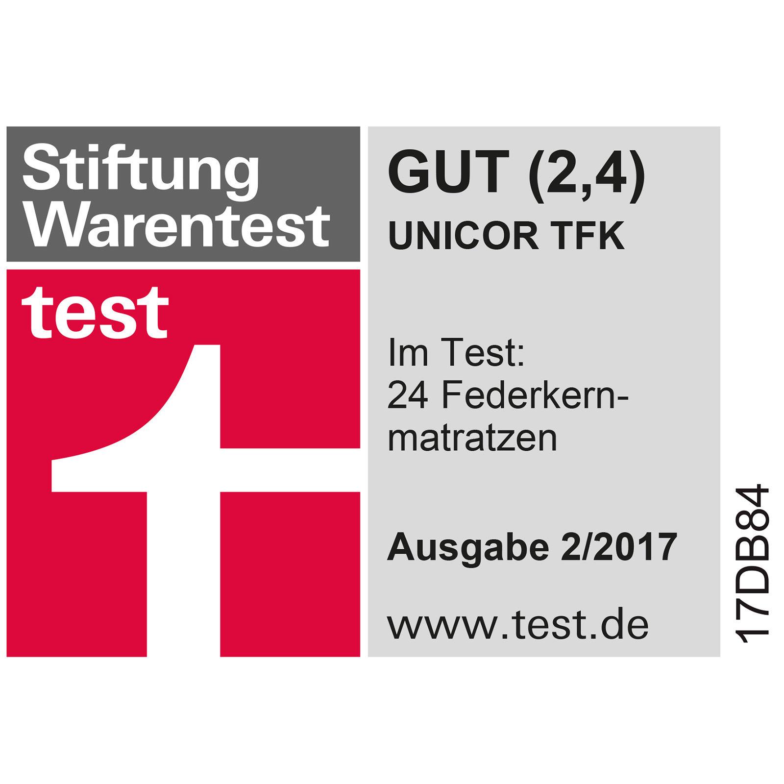 5-Zonen Taschenfederkernmatratze UNICOR - 90x200 cm - H3 ...
