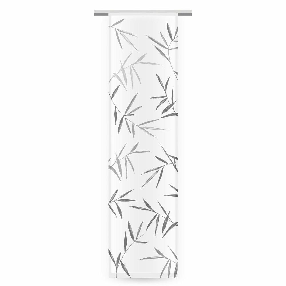 schiebevorhang bambus wei anthrazit 60x245 cm schiebevorh nge gardinen vorh nge. Black Bedroom Furniture Sets. Home Design Ideas