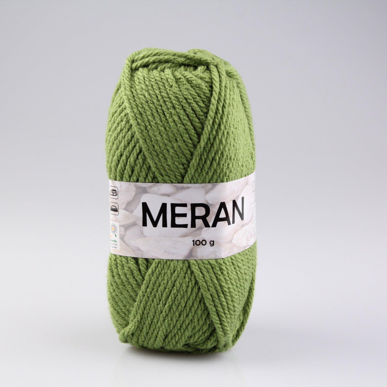 Wolle MERAN - moosgrün - 100g