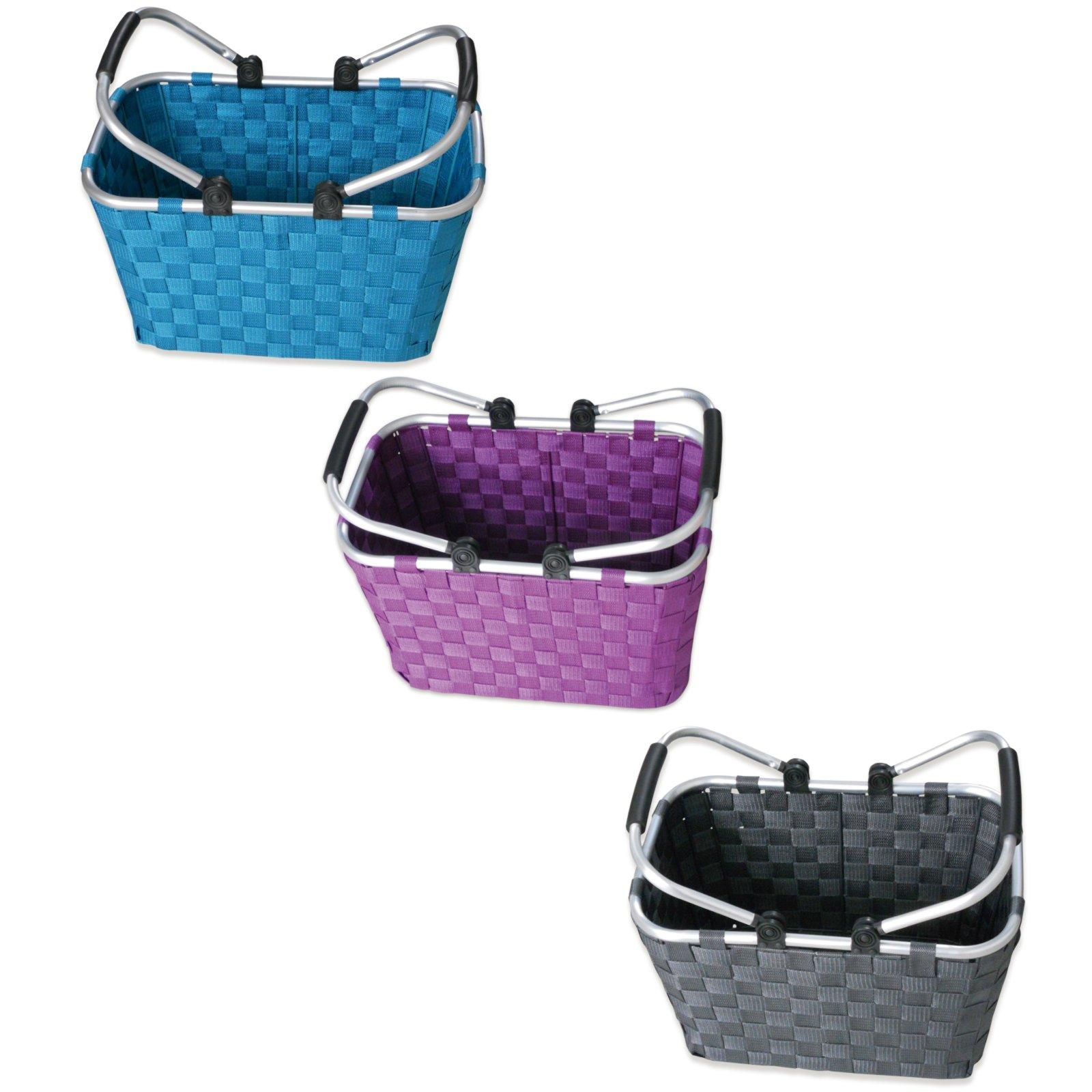 einkaufskorb mit doppelhenkel sortiertes design einkaufsk rbe taschen aufbewahrung. Black Bedroom Furniture Sets. Home Design Ideas