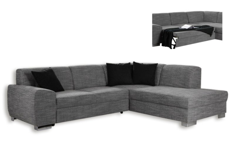 polsterecke silber federkern liegefunktion links ecksofas l form sofas couches. Black Bedroom Furniture Sets. Home Design Ideas