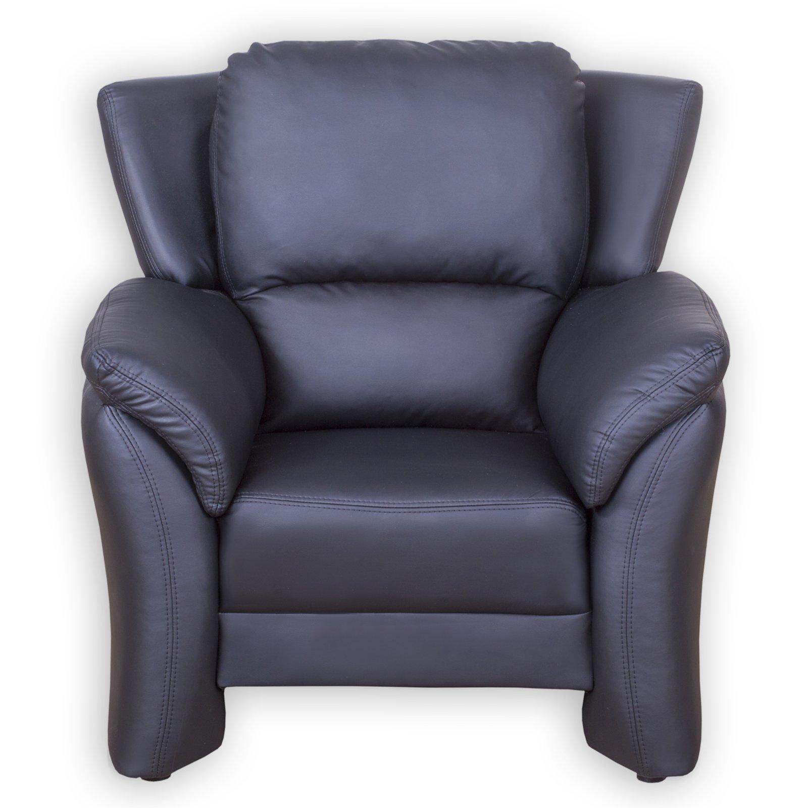 roller sessel schwarz kunstleder ebay. Black Bedroom Furniture Sets. Home Design Ideas