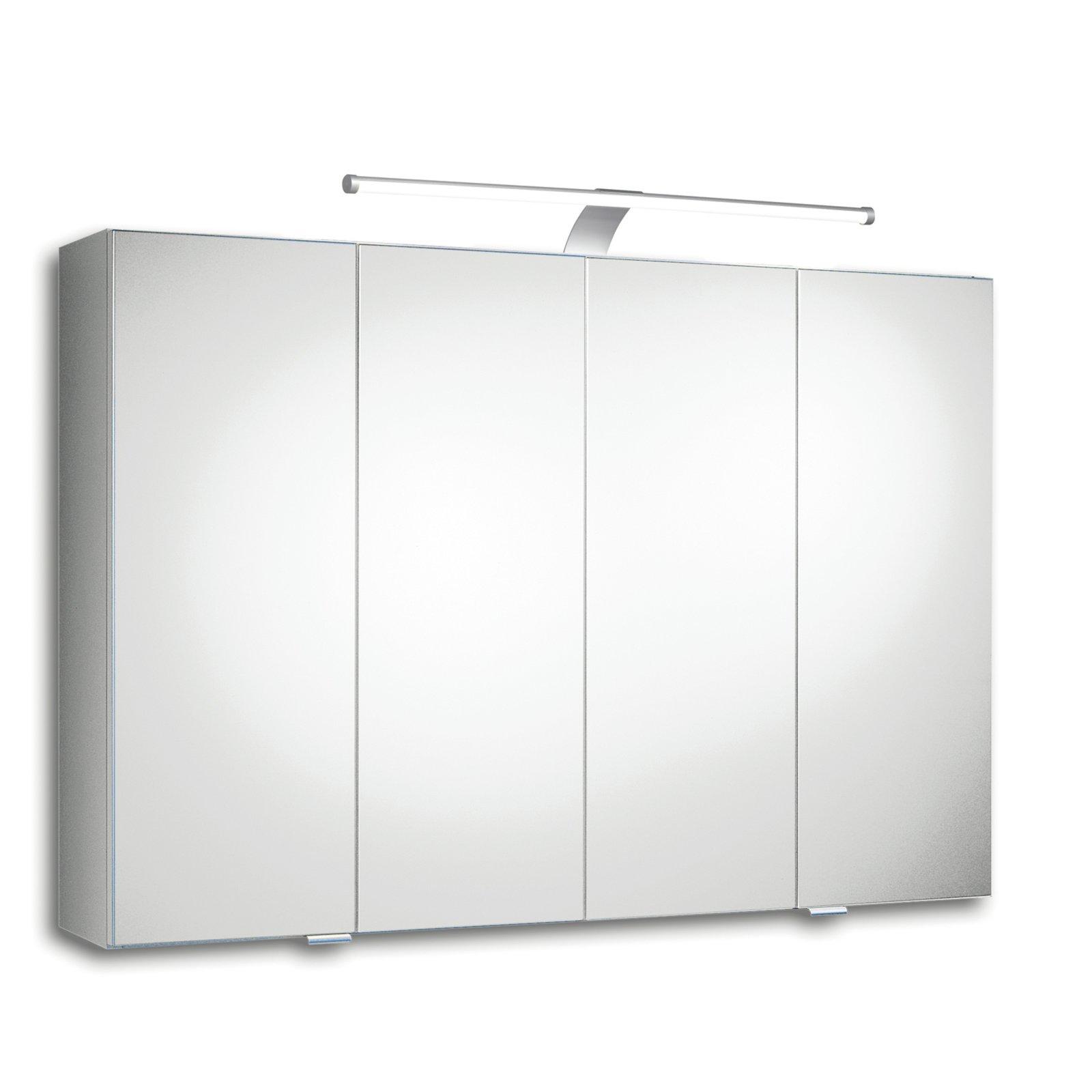 spiegelschrank trento iii wei led spiegelschr nke badschr nke regale m bel. Black Bedroom Furniture Sets. Home Design Ideas