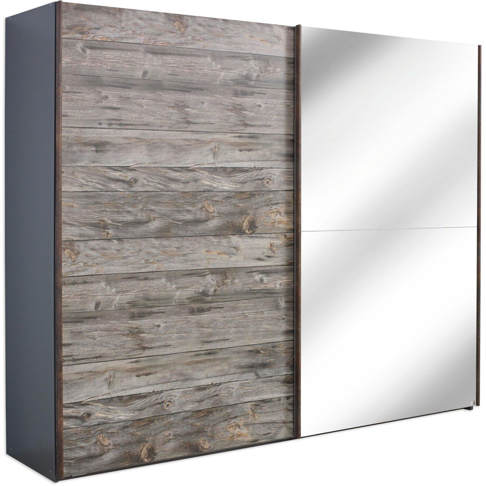 schwebet renschrank timberstyle grau holzoptik 250 cm breit schlafzimmer timberstyle. Black Bedroom Furniture Sets. Home Design Ideas