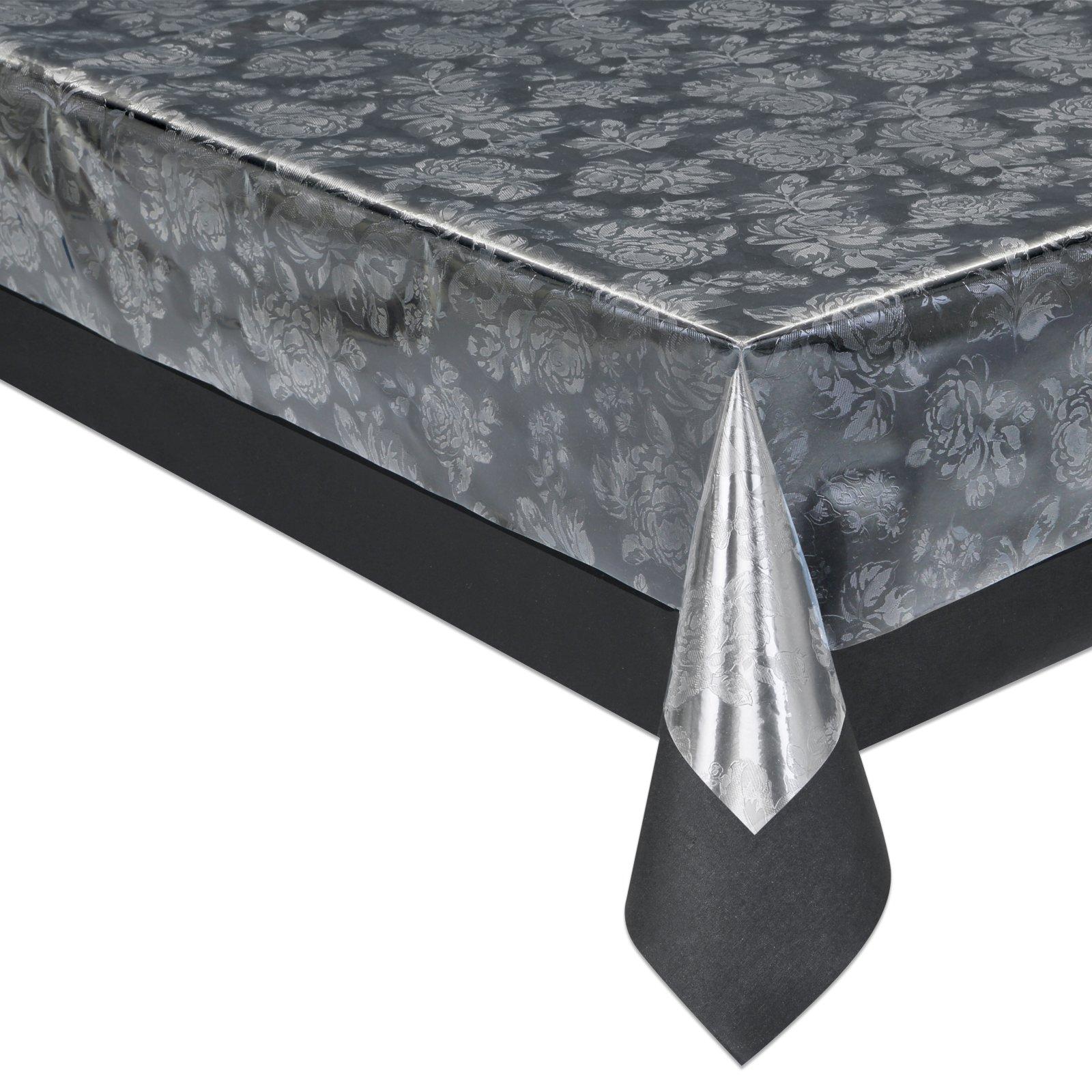 tischfolie silber transparent gepr gt pvc meterware tischdecken tischl ufer k che. Black Bedroom Furniture Sets. Home Design Ideas