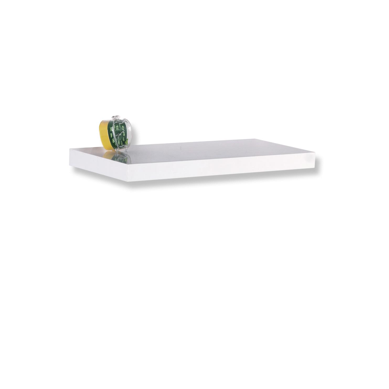 45x25x8 cm wei/ß hochglanz CASSETO Wandregal mit Schublade