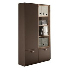 Regal-Vitrine - Lava matt Lack-Asteiche - 79 cm breit