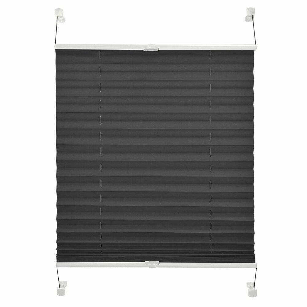verdunklungs plissee blackout anthrazit 90x220 cm plissees rollos jalousien deko. Black Bedroom Furniture Sets. Home Design Ideas