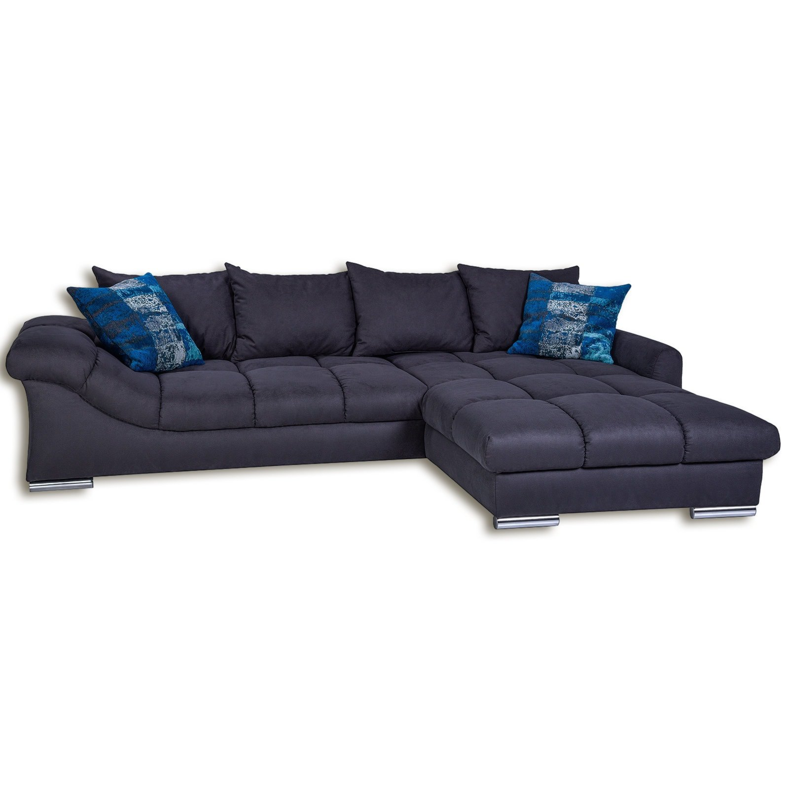 ecksofa anthrazit inklusive kissen ebay. Black Bedroom Furniture Sets. Home Design Ideas