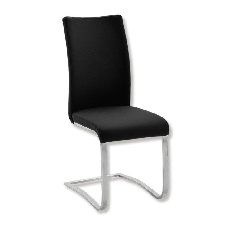 schwingstuhl arco i schwarz kunstleder freischwinger. Black Bedroom Furniture Sets. Home Design Ideas