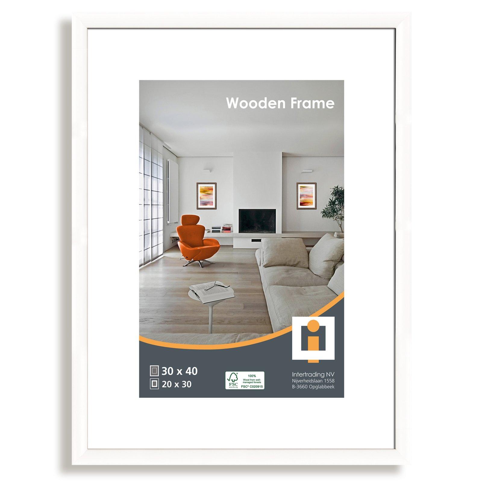 bilderrahmen nizza wei 30x40 cm bilderrahmen dekoration deko haushalt roller. Black Bedroom Furniture Sets. Home Design Ideas