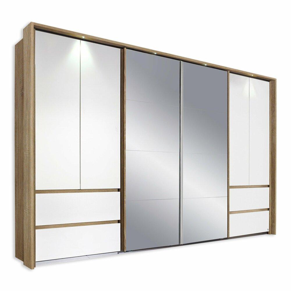 kombi schwebet renschrank fulda alpinwei sonoma eiche 315 cm breit schwebet renschr nke. Black Bedroom Furniture Sets. Home Design Ideas
