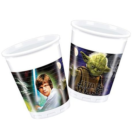 Plastikbecher STAR WARS - 8er-Pack