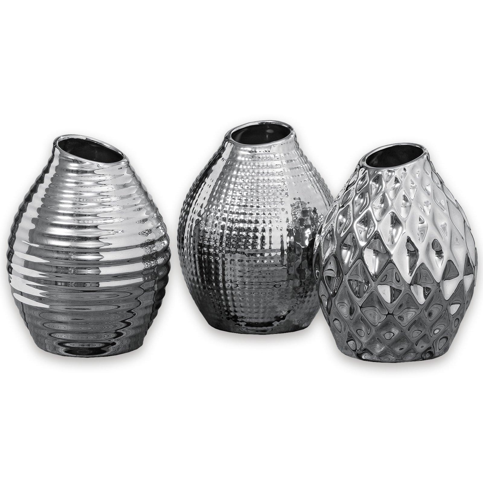 vase celly porzellan silber verschiedene designs. Black Bedroom Furniture Sets. Home Design Ideas