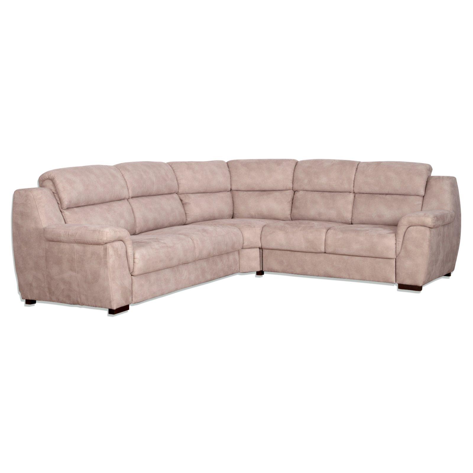 ecksofa beige microfaser ecksofas l form sofas couches m bel roller m belhaus. Black Bedroom Furniture Sets. Home Design Ideas