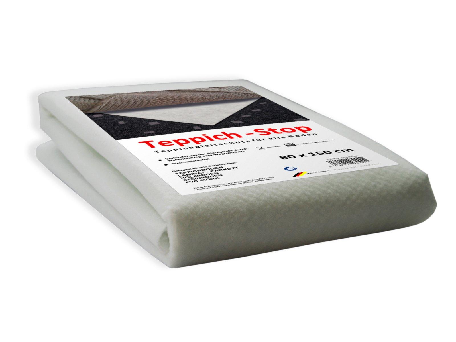 Teppich Antirutschmatte - weiß - 80x150 cm