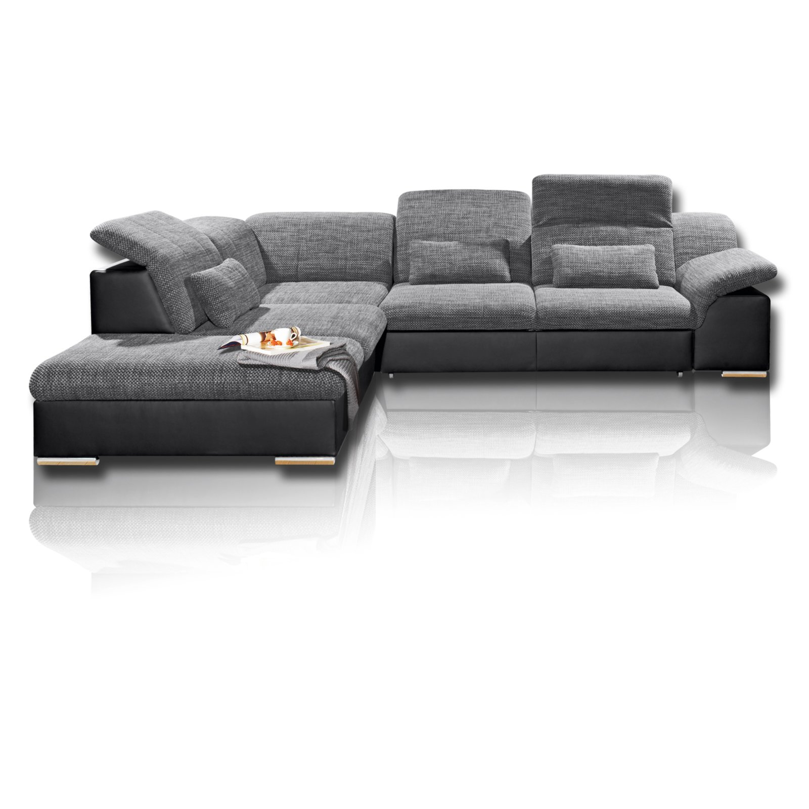 ecksofa schwarz dunkelgrau mit funktionen ecksofas l form sofas couches m bel. Black Bedroom Furniture Sets. Home Design Ideas