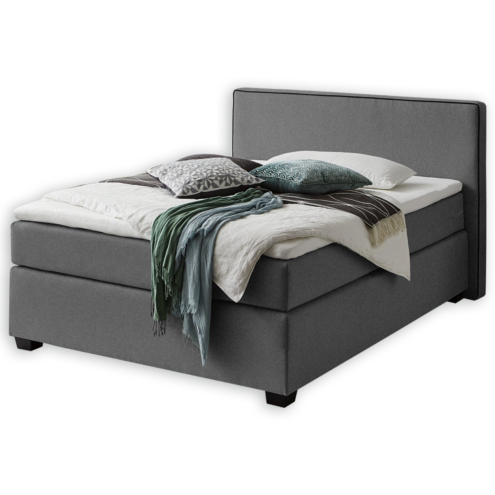 boxspringbett noxa grau h2 140x200 cm online bei. Black Bedroom Furniture Sets. Home Design Ideas