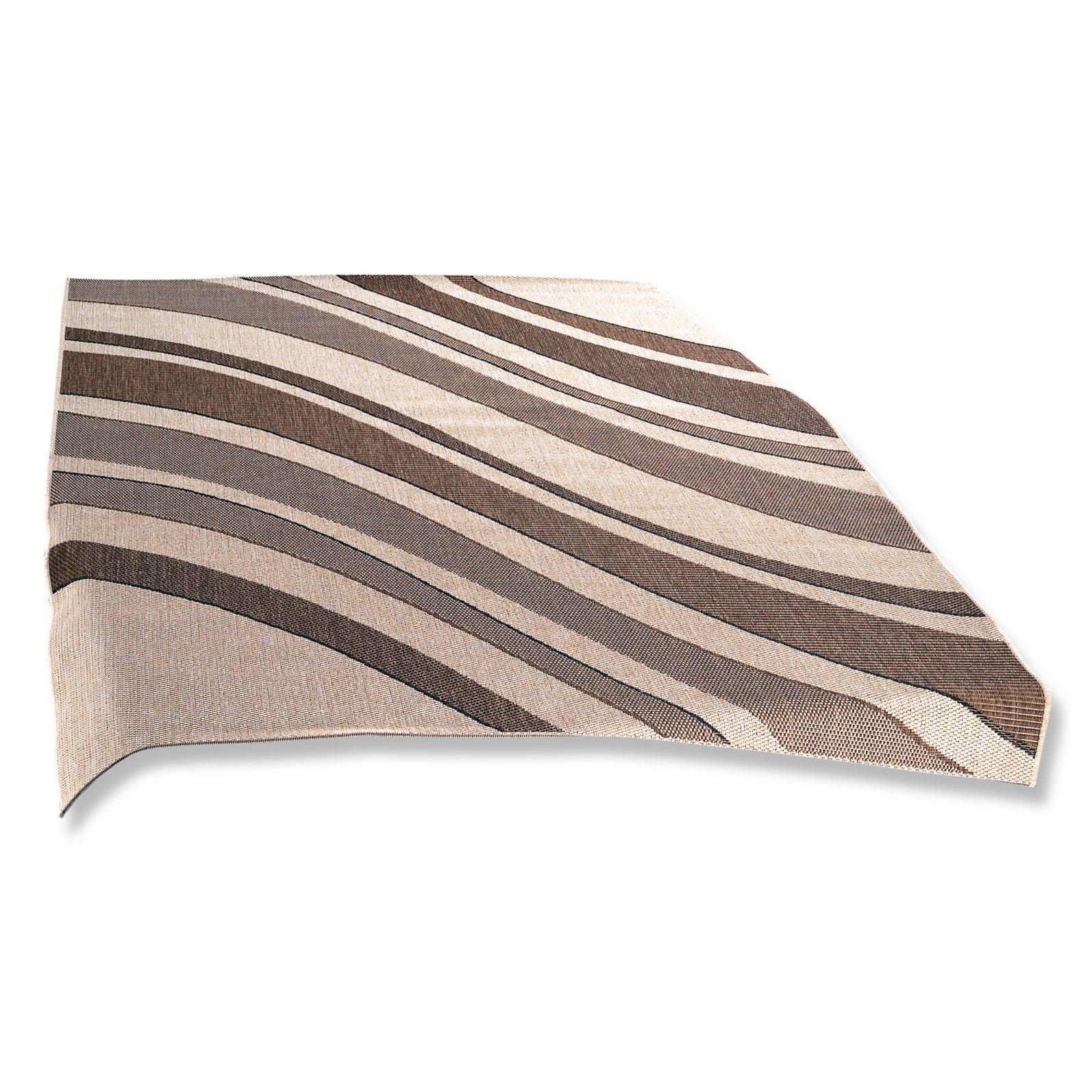 Teppich OSLO  beigebraun  Streifen  160×230 cm