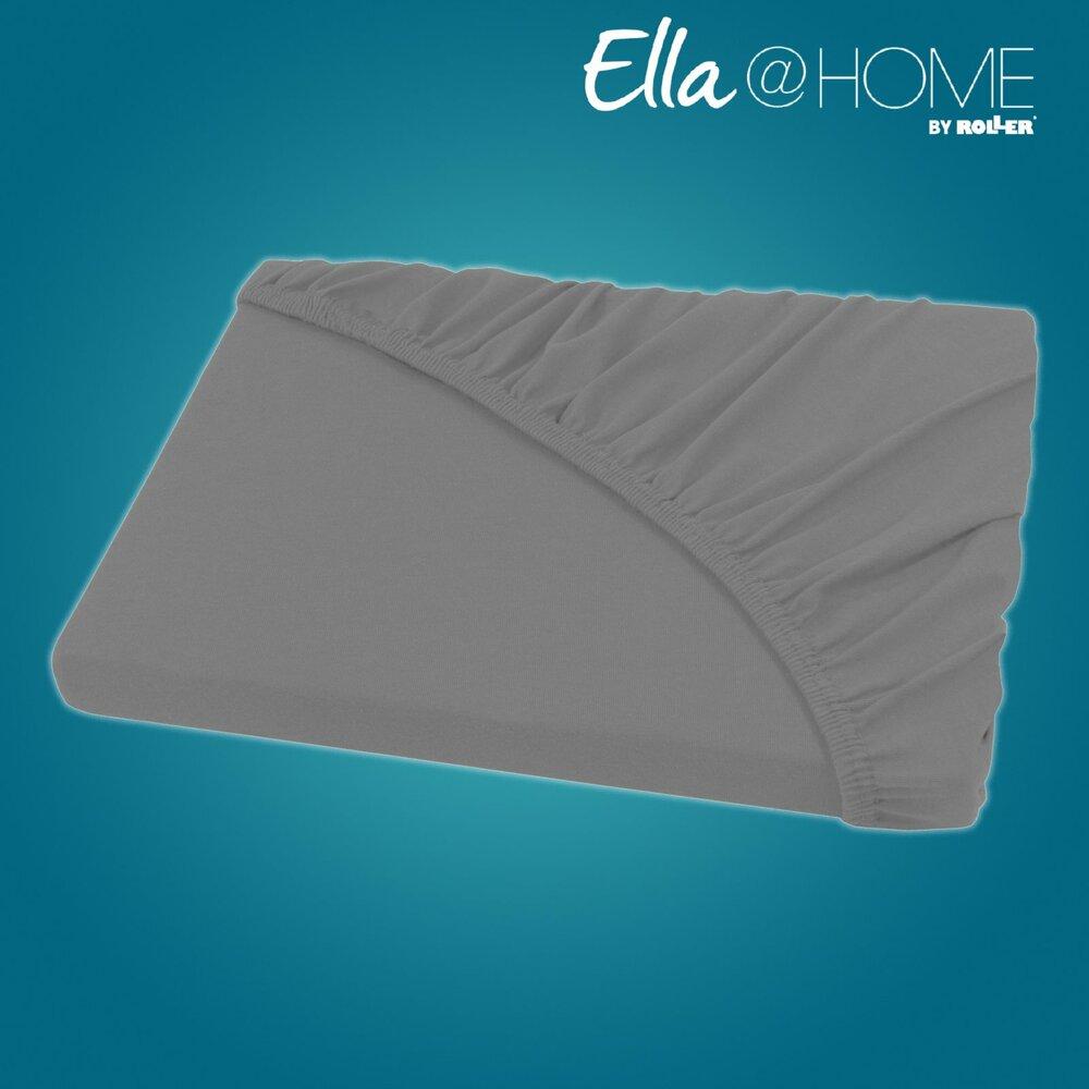 jersey boxspring spannbettlaken graphit 180x200 cm boxspring bettlaken bettw sche. Black Bedroom Furniture Sets. Home Design Ideas