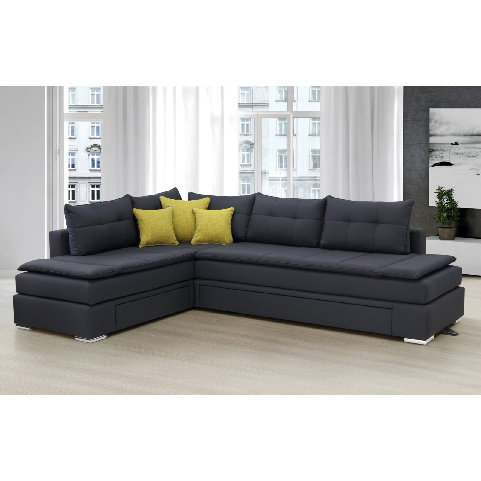 roller boxspring schlafsofa anthrazit dauerschl fer. Black Bedroom Furniture Sets. Home Design Ideas