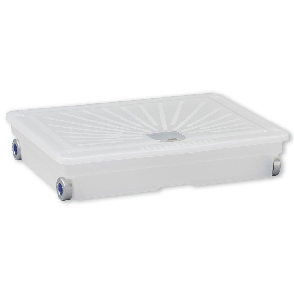 Unterbettbox - transpartent - rollbar - 72 Liter