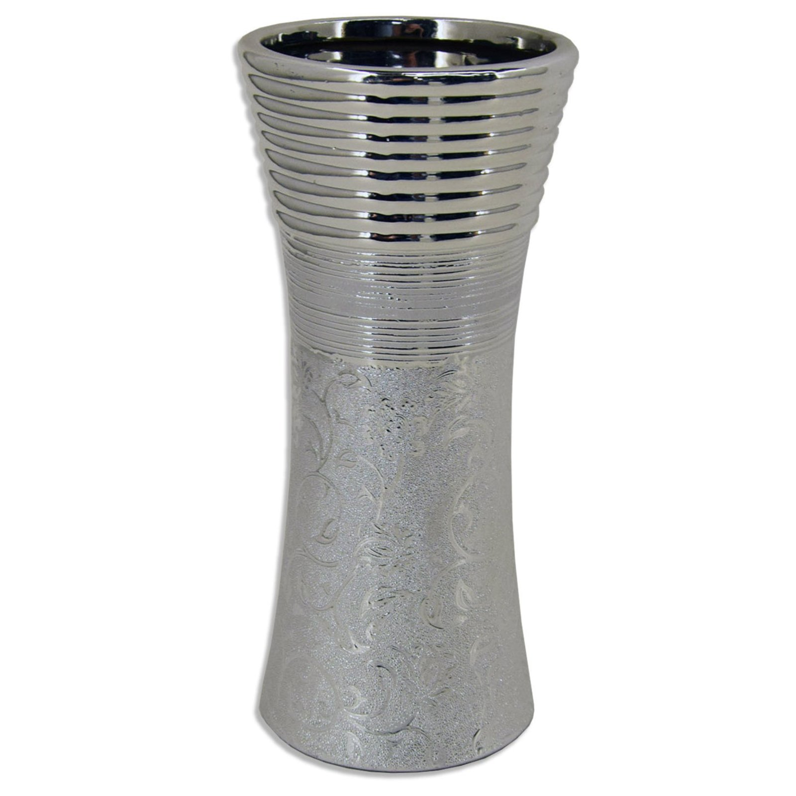 vase silber 25 cm hoch vasen deko artikel deko haushalt roller m belhaus. Black Bedroom Furniture Sets. Home Design Ideas