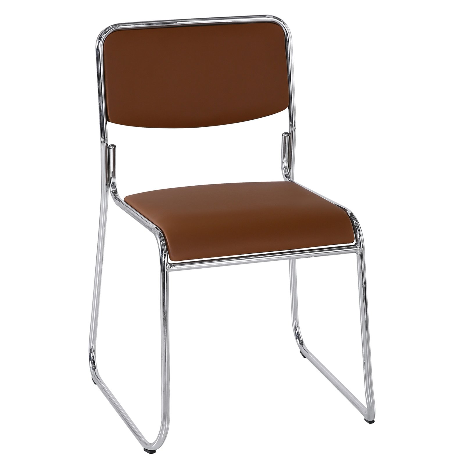 Stuhl saturn braun kunstleder polsterst hle st hle for Kunstleder stuhl braun